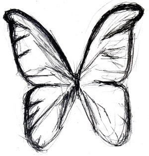 surrealism clipart butterfly drawings sketch clipground charcoal 1000