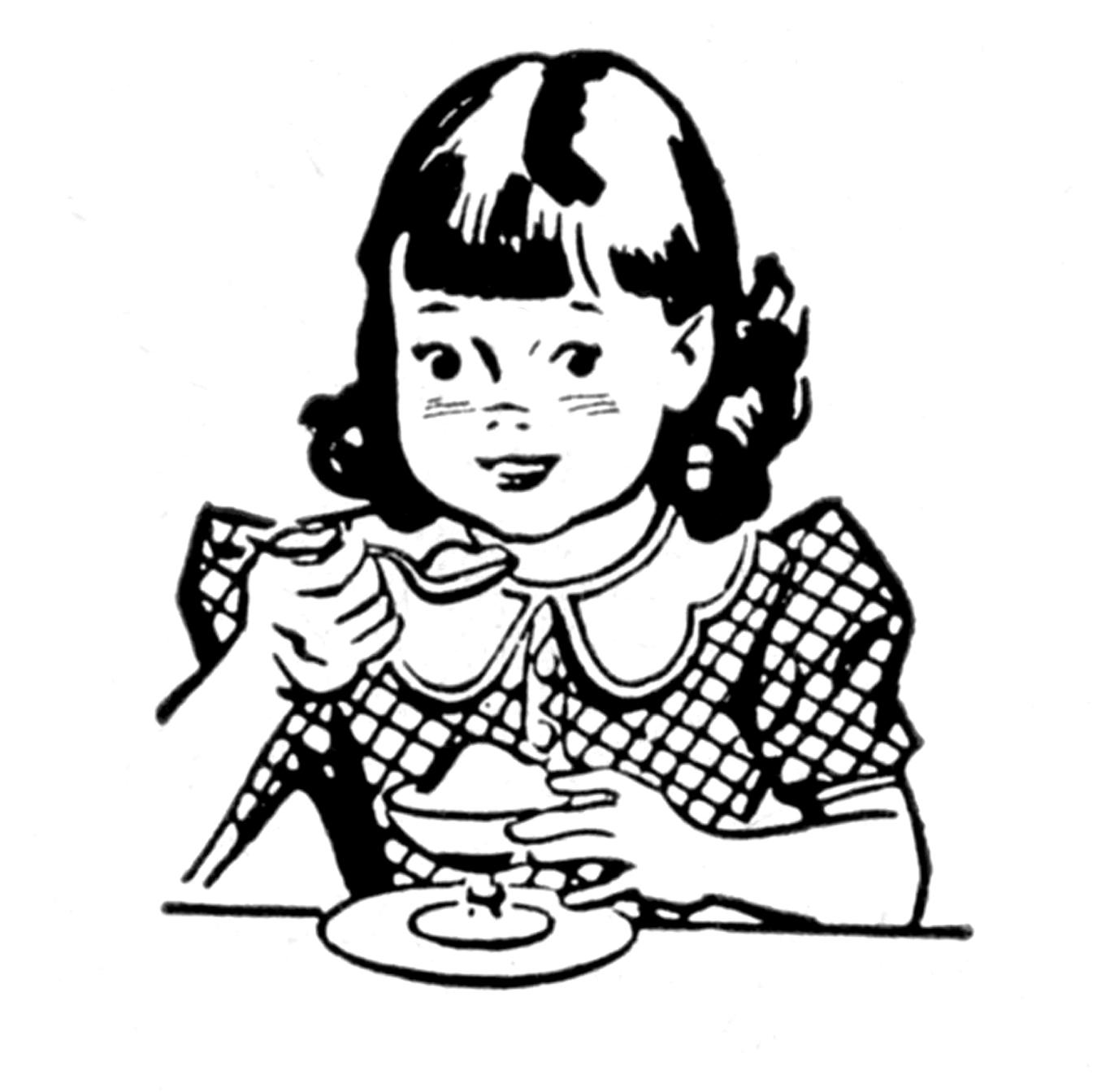 Vintage Children Clipart