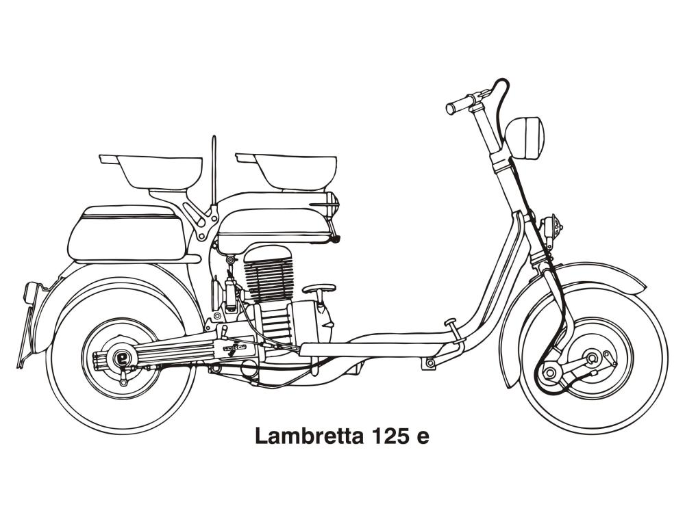 medium resolution of lambretta 125 e year 1953 clipart