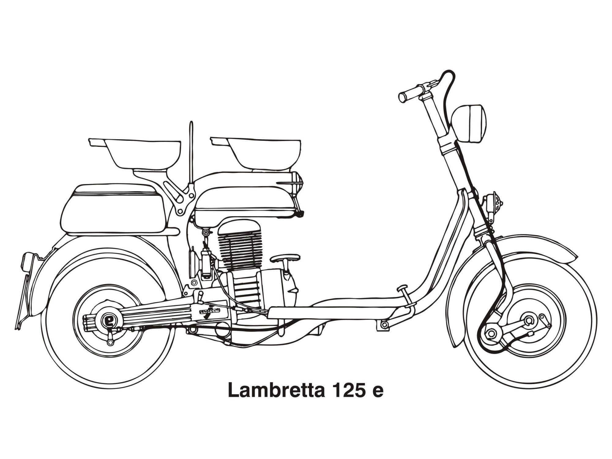 hight resolution of lambretta 125 e year 1953 clipart
