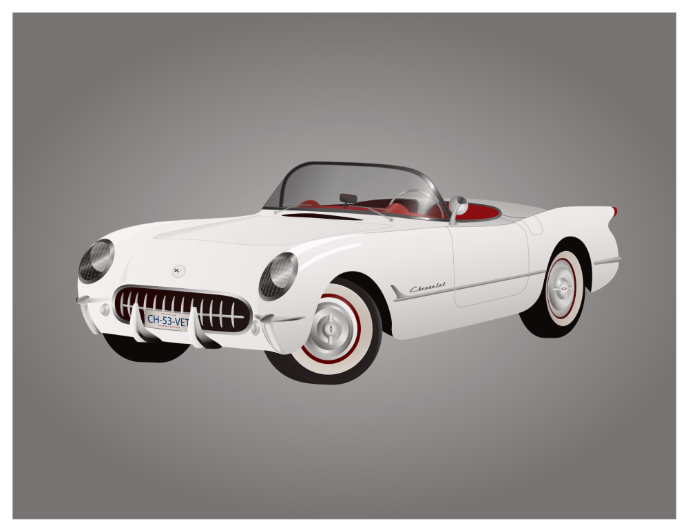 medium resolution of 1953 corvette clipart