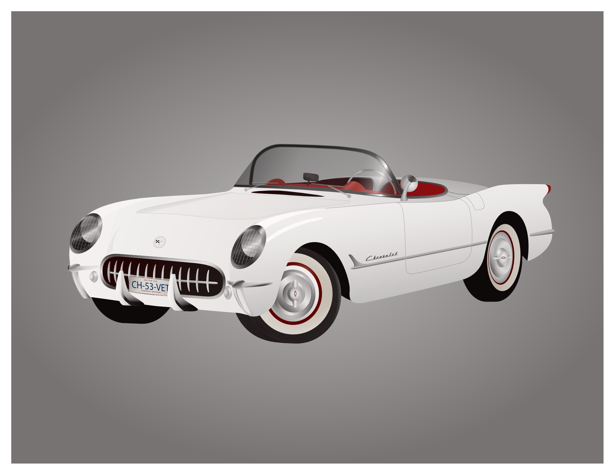 hight resolution of 1953 corvette clipart