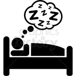 sleeping clipart bed icon person sleep vector clip vectorified clipground use mental health