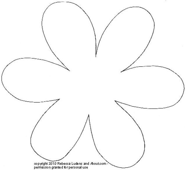 5 petal flower pattern template 20 free Cliparts