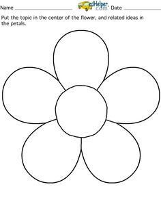 5 petal flower pattern template 20 free Cliparts