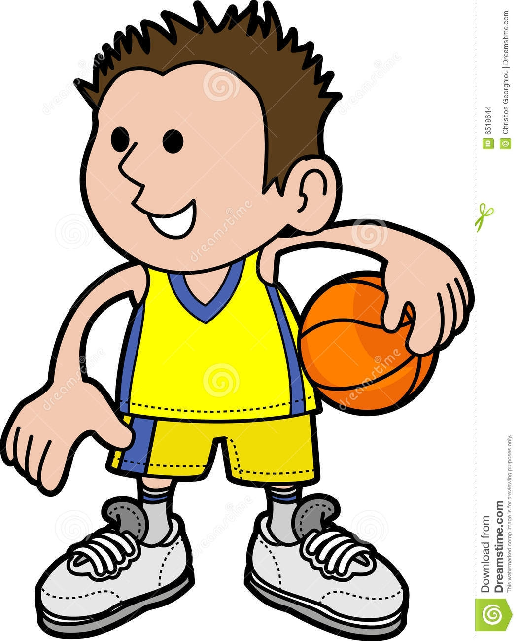hight resolution of a boy playing basketball clipart 10