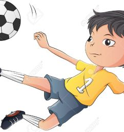 1 027 kids playing football stock illustrations cliparts and  [ 1300 x 862 Pixel ]