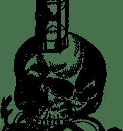 hourglass medieval skull snake woodcut  [ 932 x 1280 Pixel ]