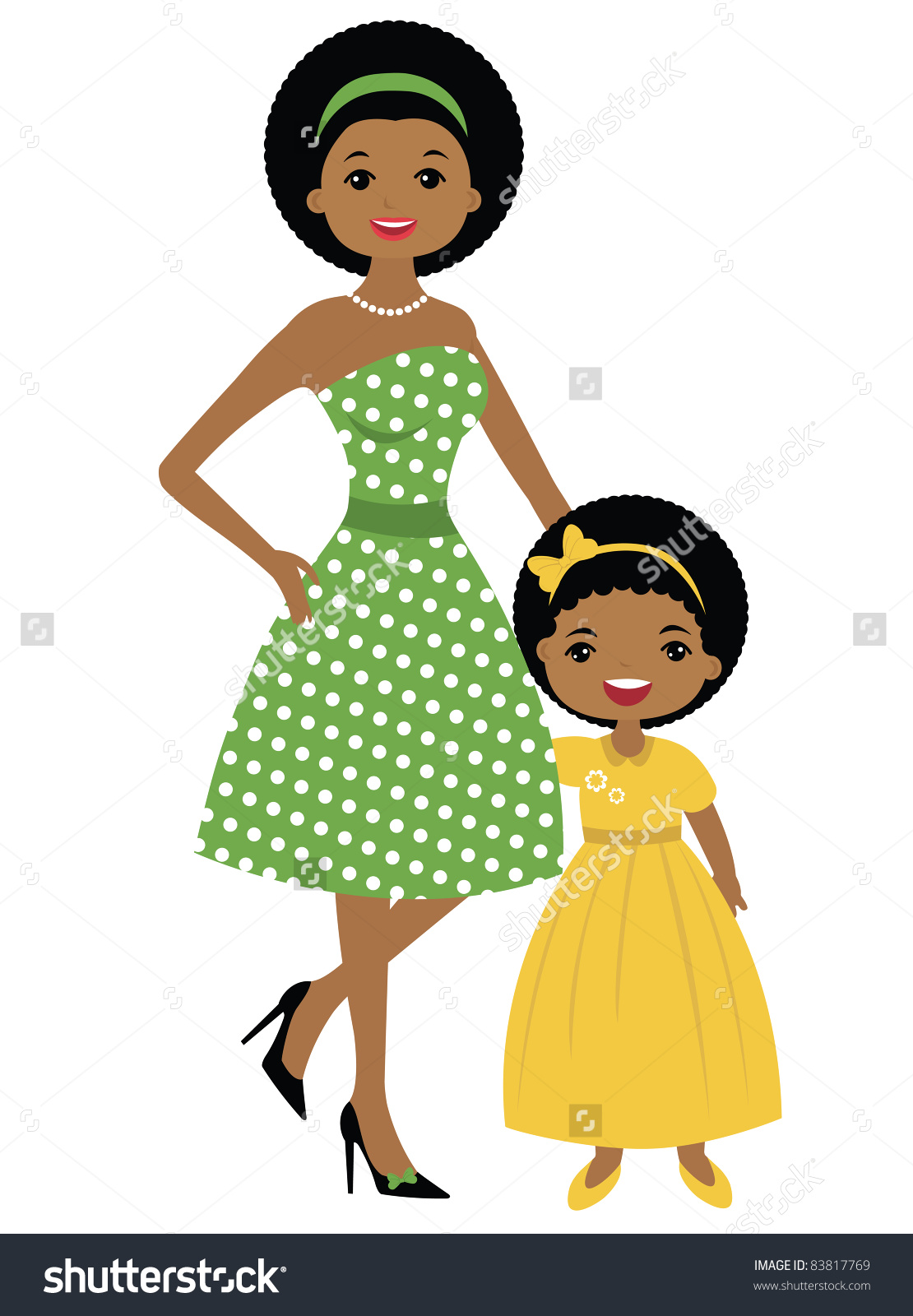 hight resolution of african american mom clipart
