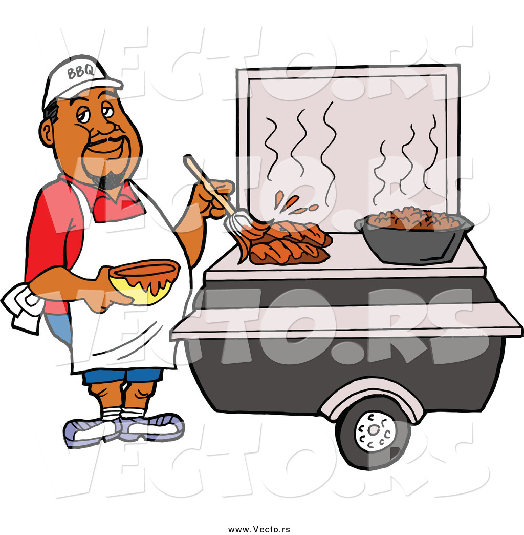 African American People Grilling Clipart Transparent