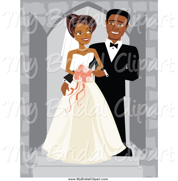 african american wedding clipart