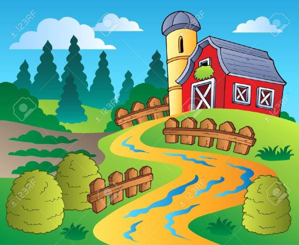 Agricultural Scene Clipart - Clipground