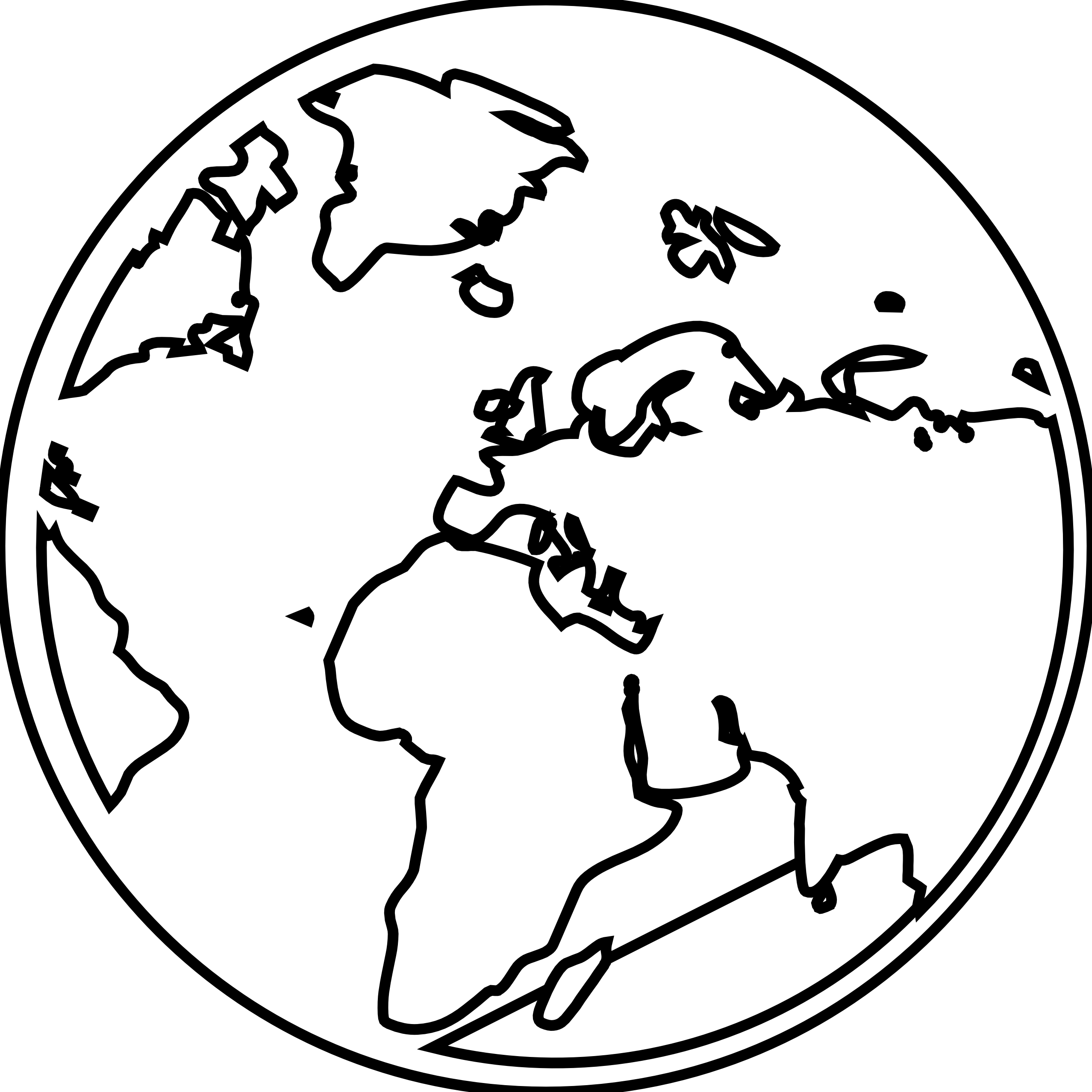 All The World Clipart Black And White 20 Free Cliparts
