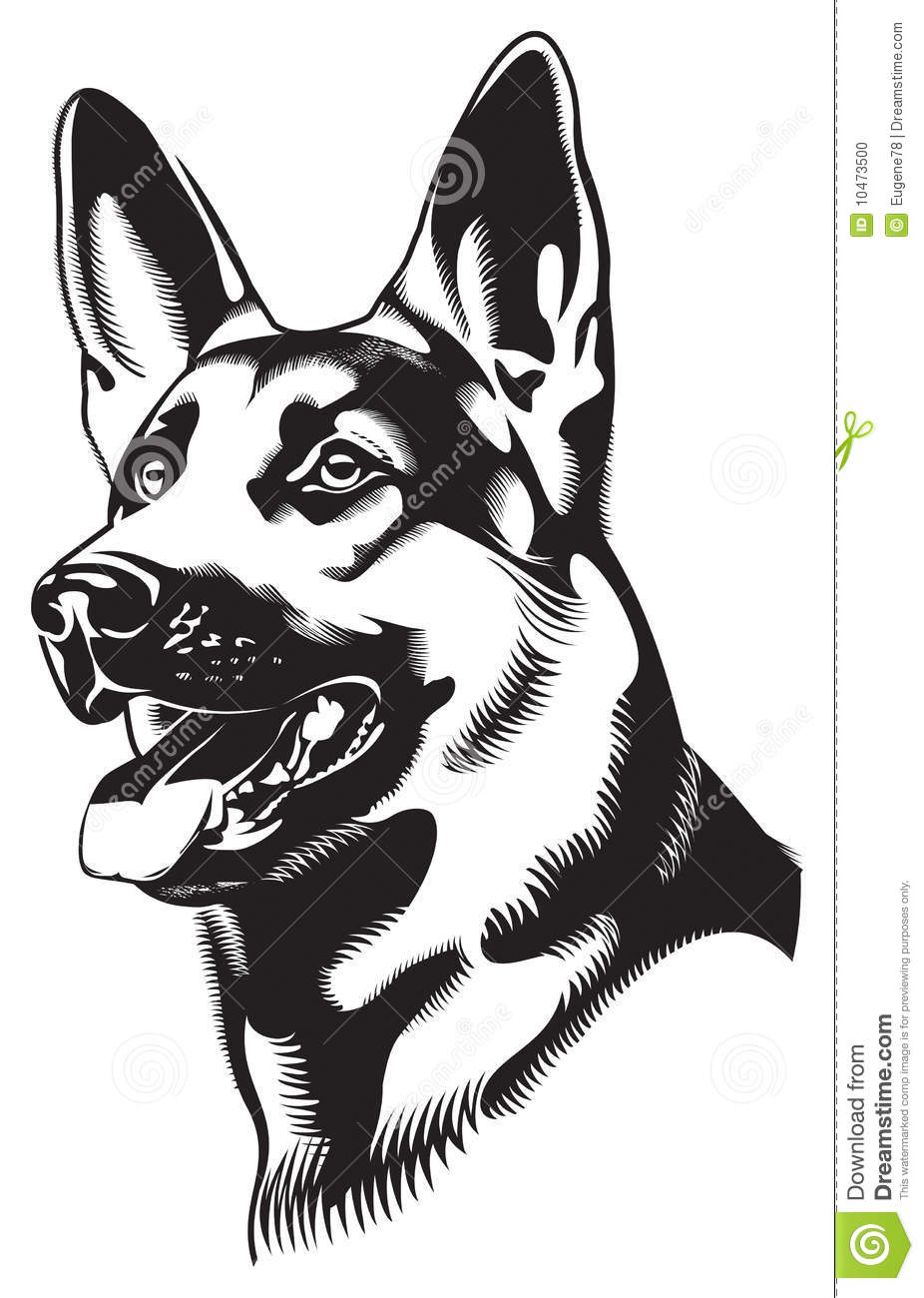 hight resolution of german shepherd dog clipart download