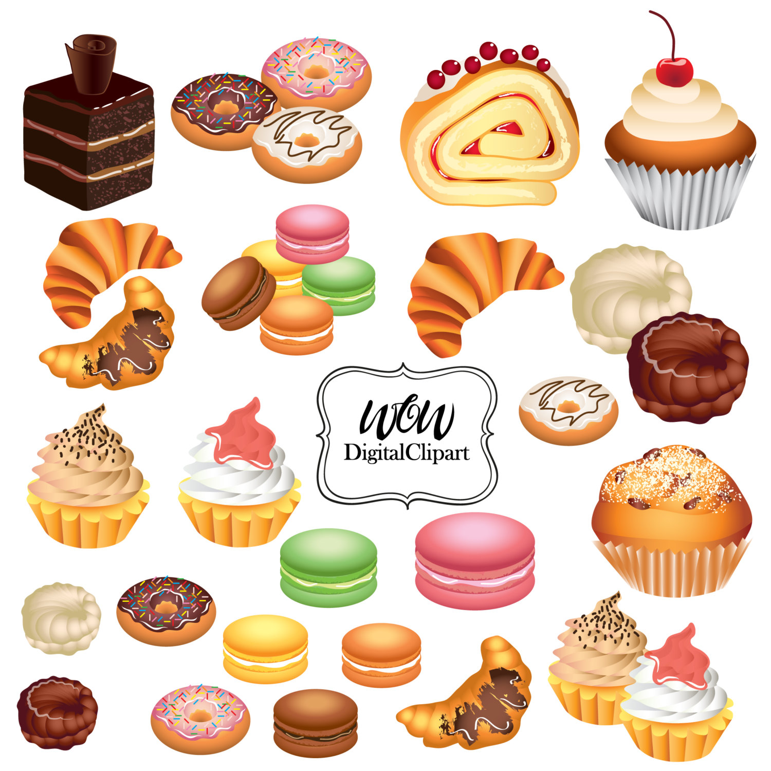 Running Pastries Clipart 20 Free Cliparts