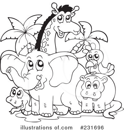 animal group clipart black and white 20 free Cliparts