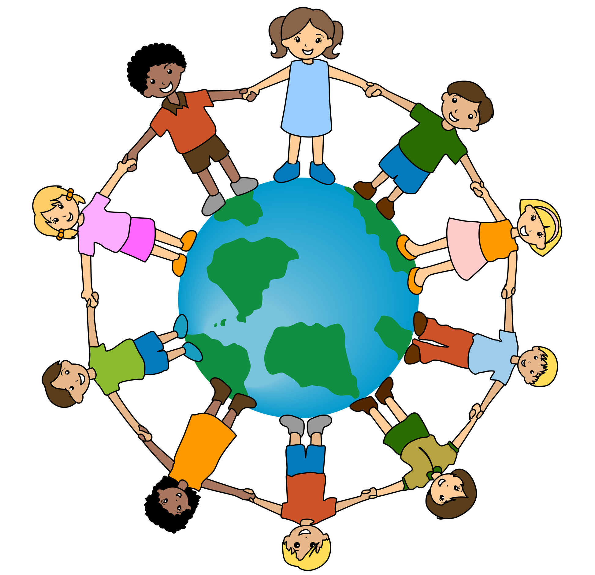 Kids Of The World Clipart