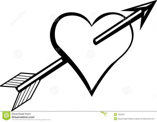 small resolution of heart arrow clipart