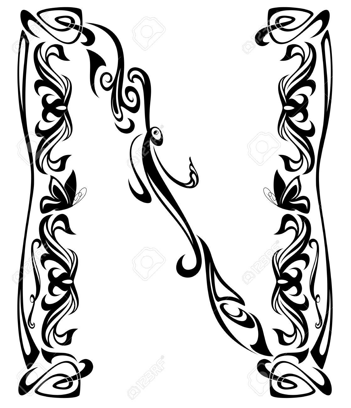 Art Nouveau Font Clipart