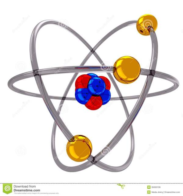 Atom Model Clipart - Clipground