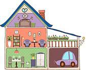 attic clipart clip cartoon interior decor illustrations vector clipground fotosearch windows bedroom eps