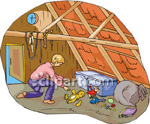 attic clipart clip boy clipground playing royalty cliparts space