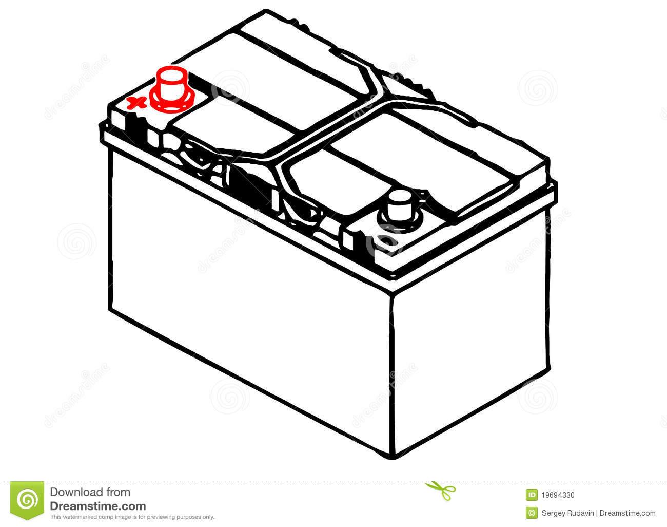 Automotive Battery Clipart