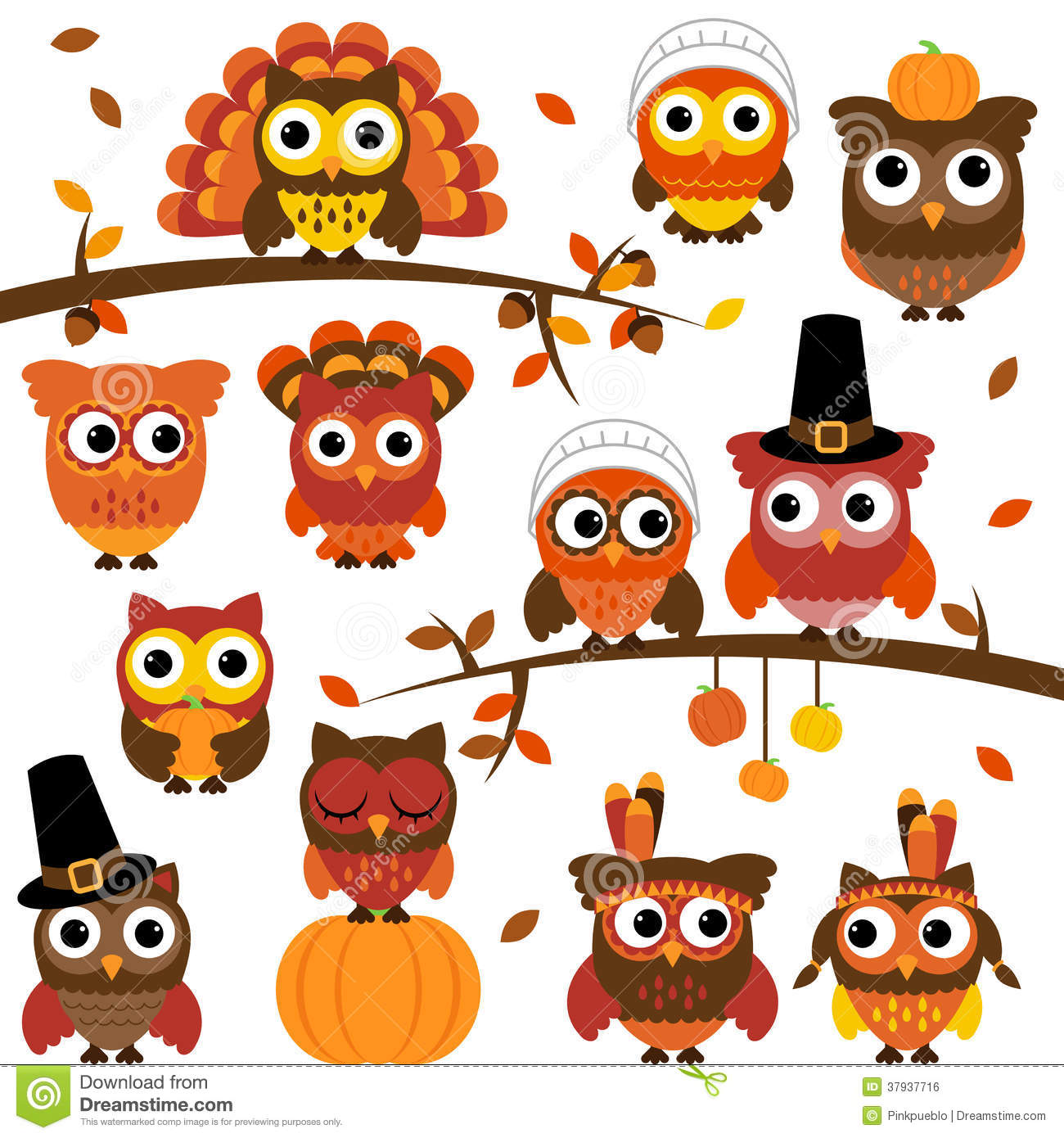 Autumn Themed Clipart 20 Free Cliparts
