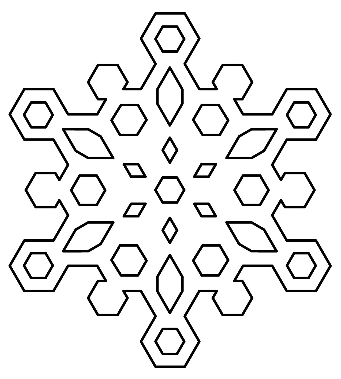 Christmas Clipart Black And White Snowflake 20 Free