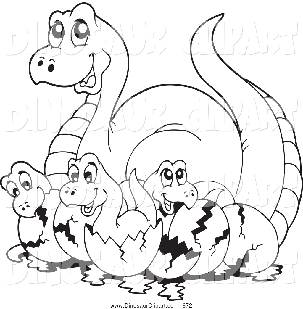 Baby Dinosaur Clipart Black And White 20 Free Cliparts