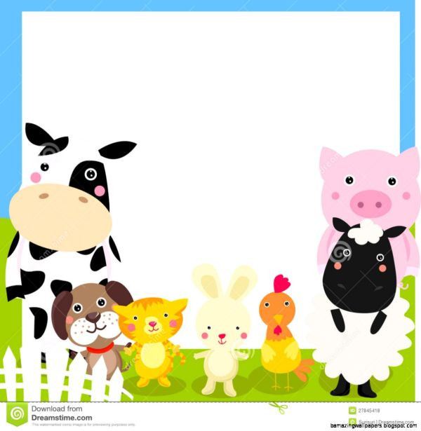 Farm Animal Border Clip Art