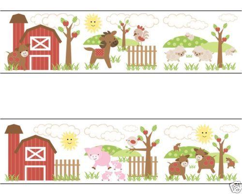 Baby Girl Nursery Wallpaper Borders Baby Farm Animal Clipart Borders Clipground