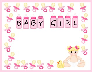 border baby borders clipart shower templates frames clip paper designs bow library cliparts clipground 1261 1600 hop pix room attribution