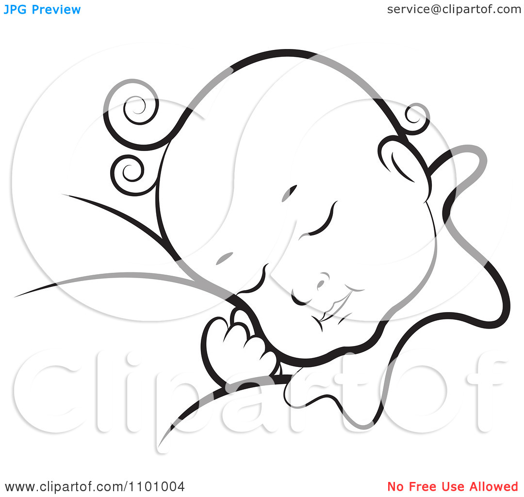 Baby Sleeping Clipart Black And White 20 Free Cliparts