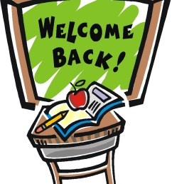 welcome back graphics clipart  [ 787 x 1024 Pixel ]