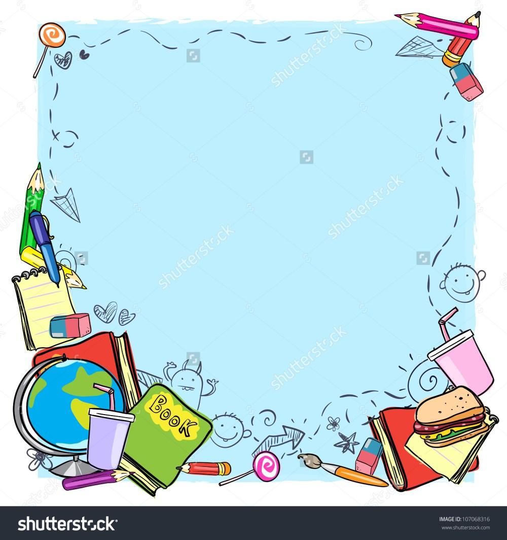 medium resolution of school border frame space text back stock vector 107068316