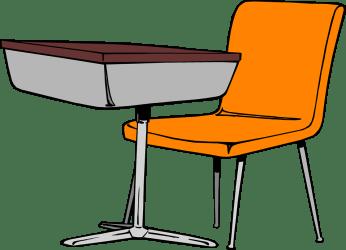 clipart desk teacher chair background chairs transparent clipground