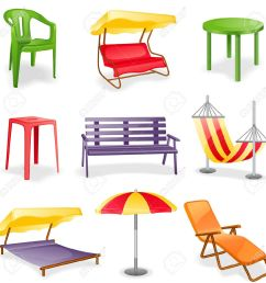 garden furniture icon set isolated on a white background royalty  [ 1300 x 1300 Pixel ]