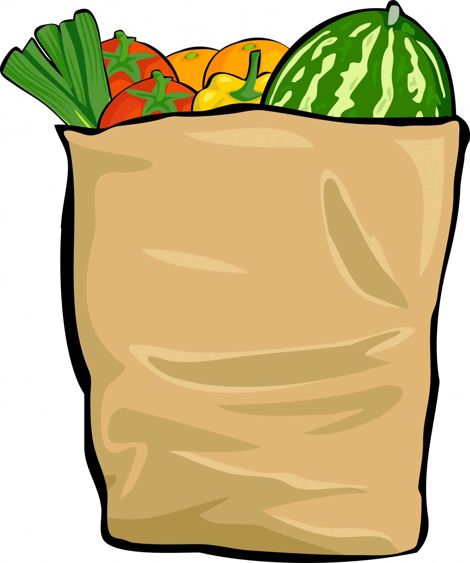 hight resolution of bag of food clipart grocery bag