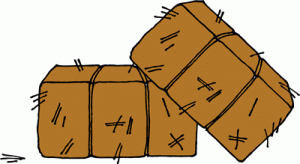 bale of hay clipart - clipground