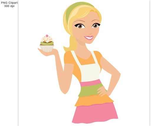 baking girl clipart - clipground