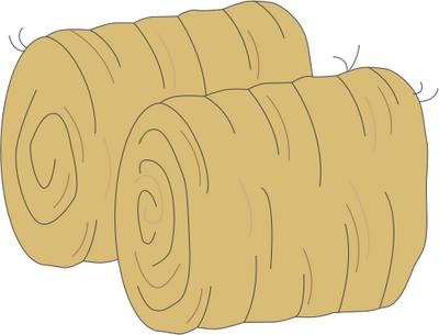bales of hay clipart - clipground