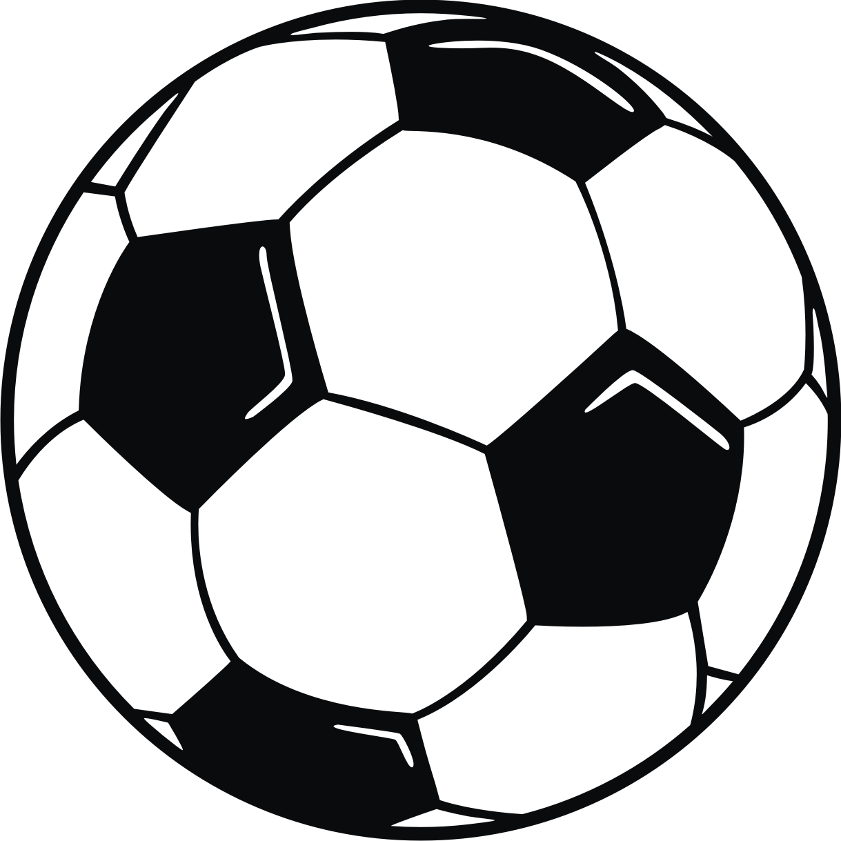 hight resolution of soccer ball clipart