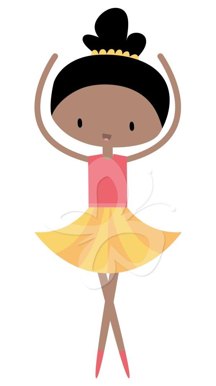 Little Ballerina Clip Art