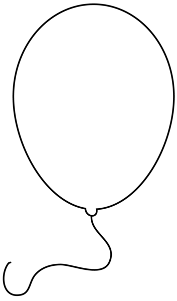 clipart black and white balloon