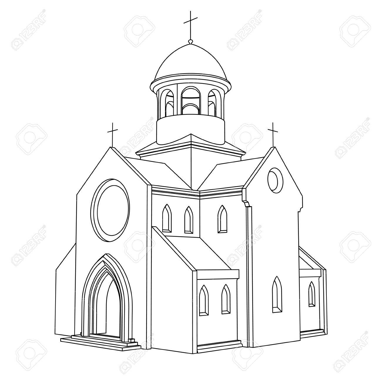 Baroque Church Clipart