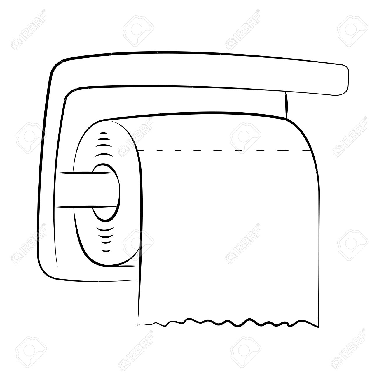 Bathroom Tissue Clipart