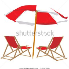 Beach Chair And Umbrella Clipart Brown Leather Desk Uk Clipground Stock Images Royalty