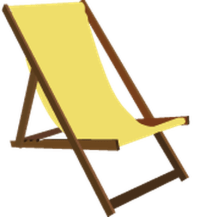 Beach chair clipart - Clipground