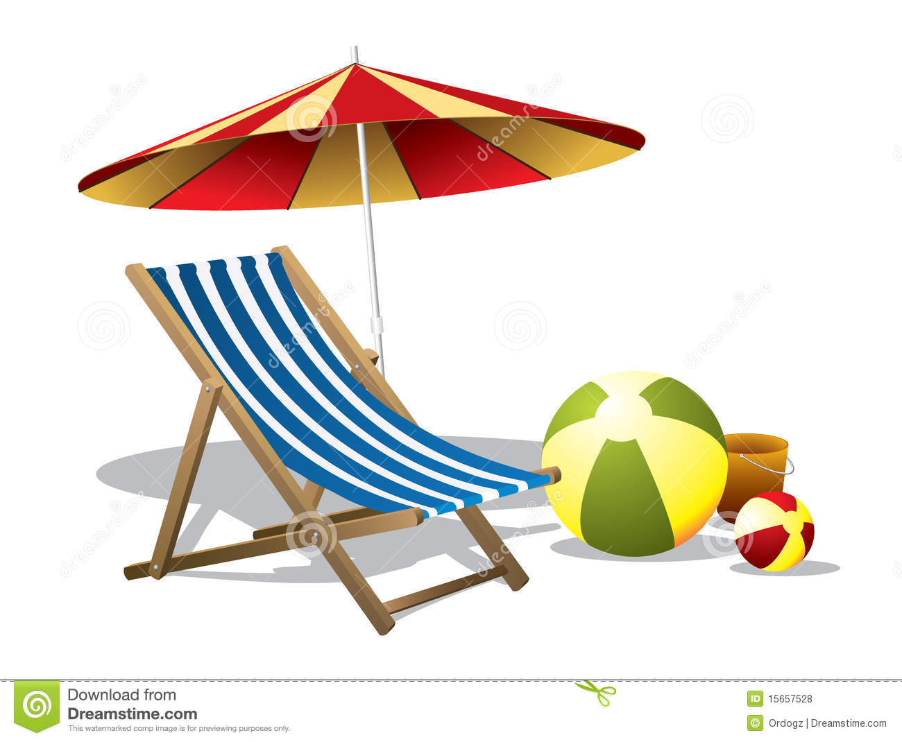 chair with umbrella attached eames lounge uk replica clipart beach and clipground